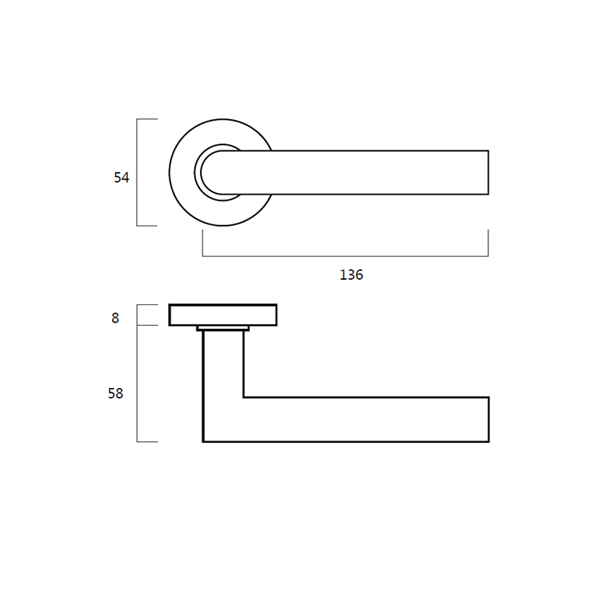 Dorma Pure 8906 Tubular Stainless Steel Lever Handle