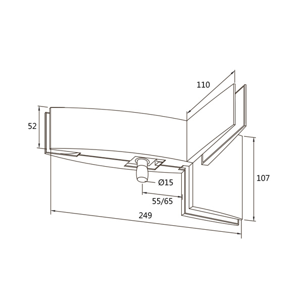 DORMA PT 41 Arcos Overpanel And Side Patch With Pivot And Fin
