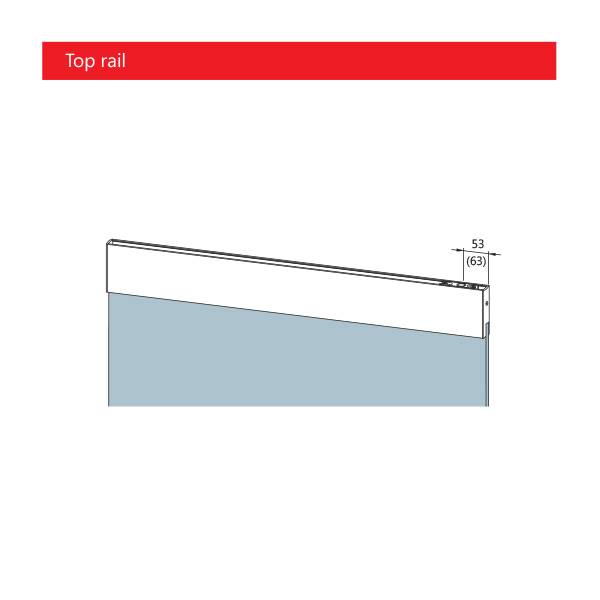 DORMA TP door rail technical top rail