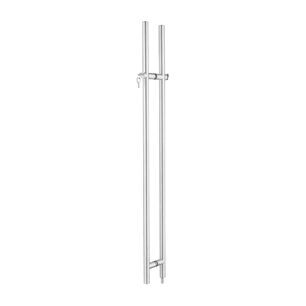 HARDEE PH180 Stainless steel pull handle with lock and thumbturn