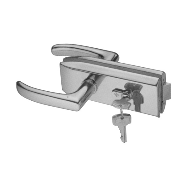 HARDEE RL333 Glass door lock with lever handle