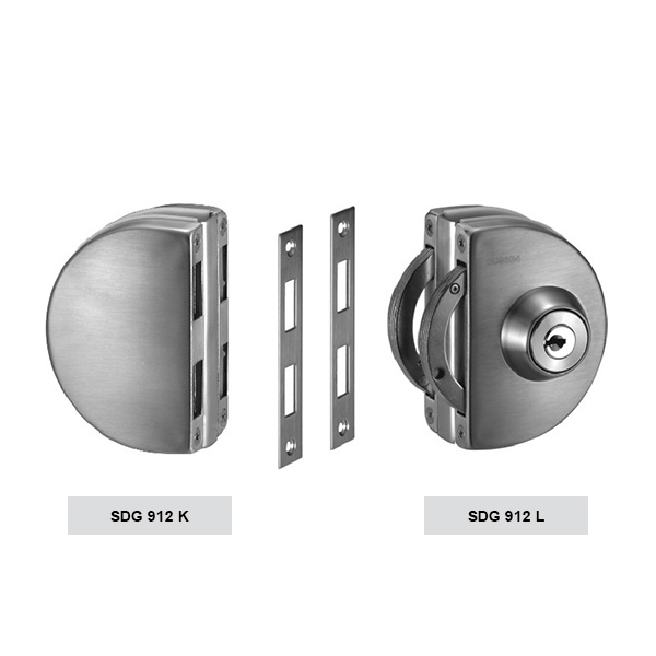 HARDEE SDG 912 Clamp type glass door lock