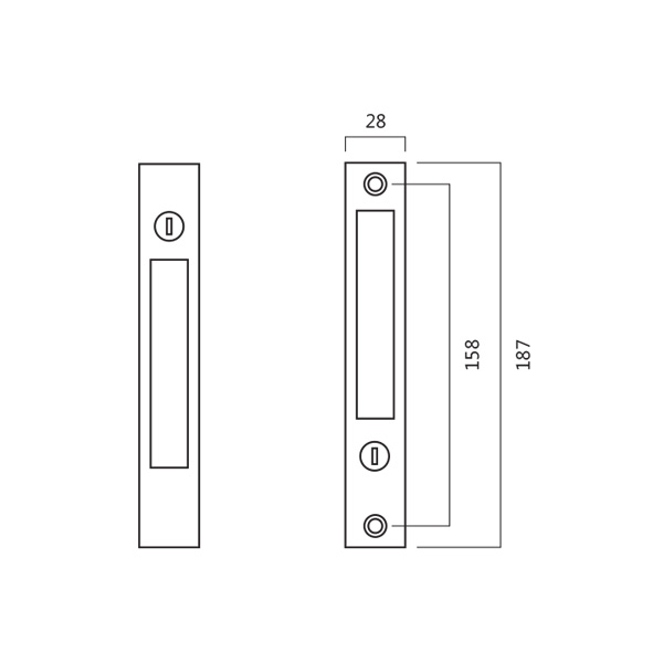 DLC 4430 Sliding Door Flush Lock With Double Key Technical