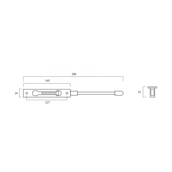 DLC DL 210 Flush Bolt Technical