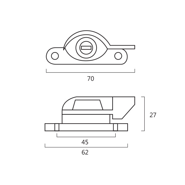Resilient DC 310 Crescent Fastener With Key Technical