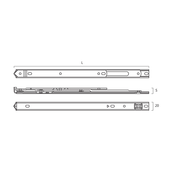 Resilient SUS 304 Round Groove Friction Stay for Side Hung Technical